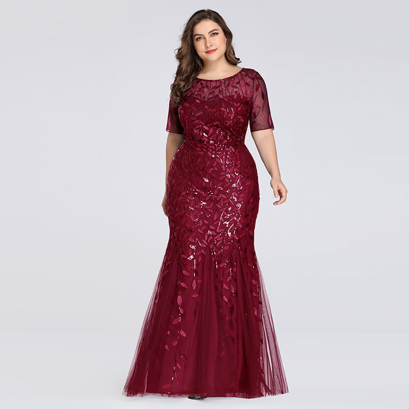 Evening Dresses Pretty Formal Dresses Plus Size Long Party Gowns Mermaid High-neck Zipper Back Floor-Length Prom Dresses Fashion