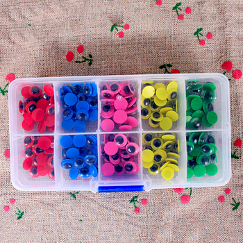 цена на 200pcs 8mm Colorful Black Safety Googly Eyes Self-adhesive For Toys Doll Eyes DIY Accessories Assembling Amigurumi Eyes For Toys