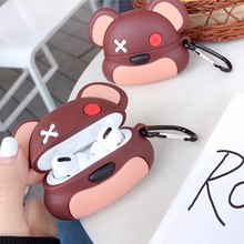 3D Kartun Beruang Kecil Nirkabel Bluetooth Earphone Case untuk Apple Udara Pods Pro Cute Boneka Mainan Lembut Silikon Headphone Cover(China)