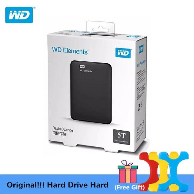 """Oryginalny!!! 5TB Western Digital WD Elements dysk twardy dysk twardy HDD 2.5 """"5T HDD USB 3.0 przenośny zewnętrzny dysk twardy"""