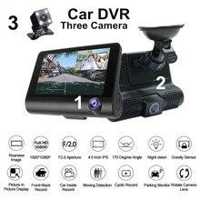 MD DVR 4 Drei Objektiv Spiegel Auto DVR 1080p Full HD Video Fahren Recorder Rück Kamera Dash Cam G Sensor Nachtsicht Dashcam
