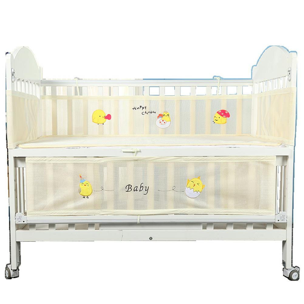 Baby Cradle Dimensions Us 11 54 30 Off Kidlove 2pcs Baby Anti Collison Breathable Cartoon Printing Baby Safety Bed Fence In Bumpers From Mother Kids On Aliexpress