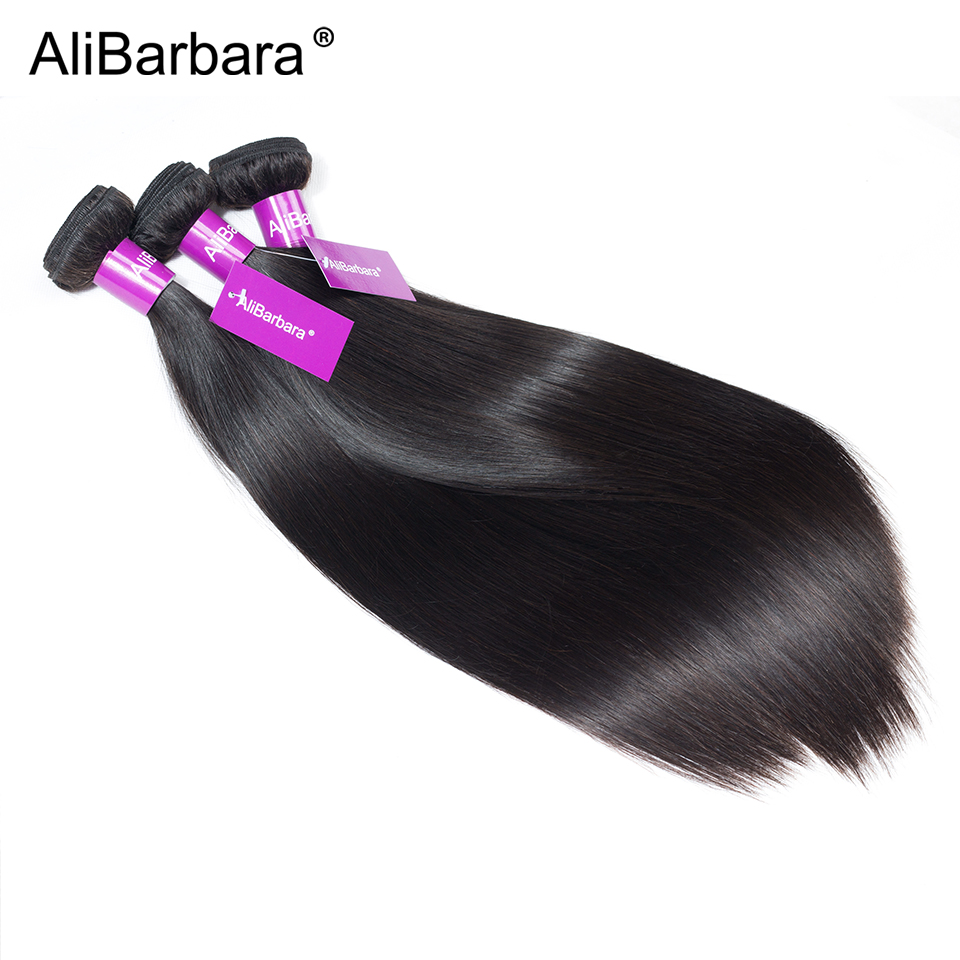H460d6255c7b1473c9ceb05eecef9fb6es Alibarbara Brazilian Straight Hair With Closure 4*4 5*5 6*6 Free Middle Part Closure with Bundle Remy Human Hair Bundles With Cl