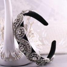 TRiXY S10-FG Charming Baroque Hair Hoop Crystal Rhinestone Baroque Headbands Headpiece Tiaras and Crowns Bride Hair Accessories