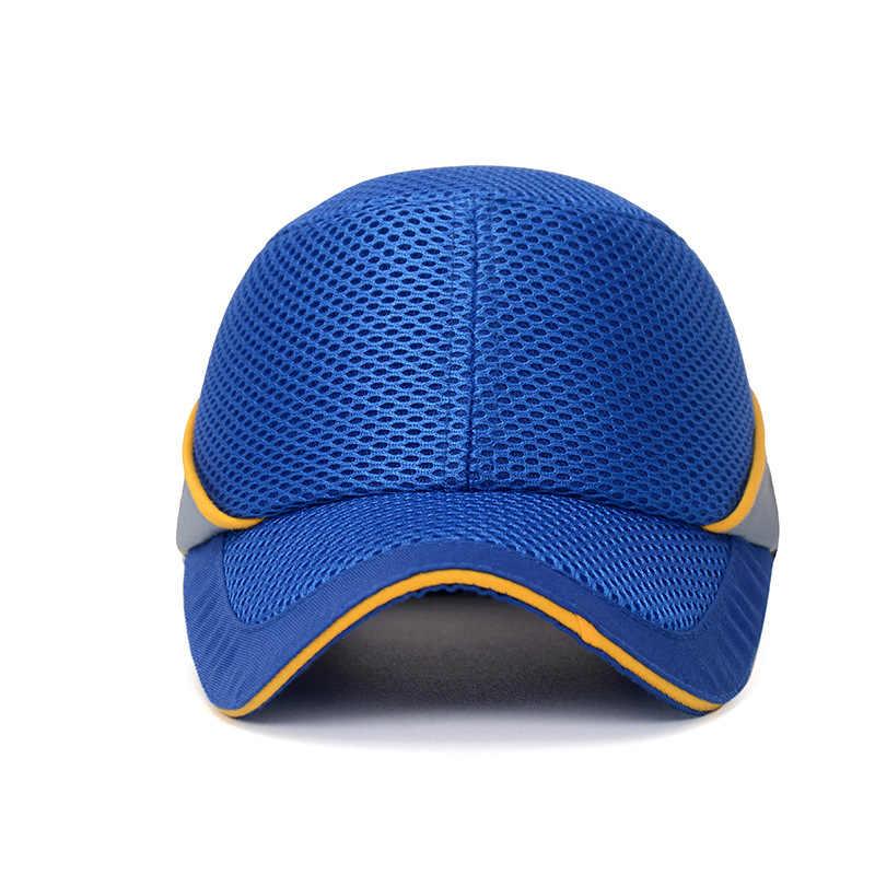 2020 di Sicurezza Sul Lavoro Urto Berretto Da Baseball di Stile Del Cappello Del Panno Netto Hi-Viz Anti-collisione Cappello Duro Casco Testa protezione Riparazione