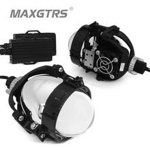 40W 2.5 inch BI LED Projector Lens Car Headlight Retrofit Universal LED Headllamp High Low Beam Hid Xenon Lens Car Accessories цена 2017
