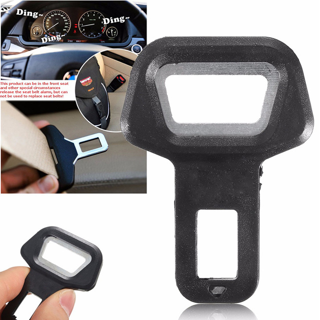 1x Cars Accessories Safety Seat Belt Buckle Alarm Stopper Eliminator Clip Hot