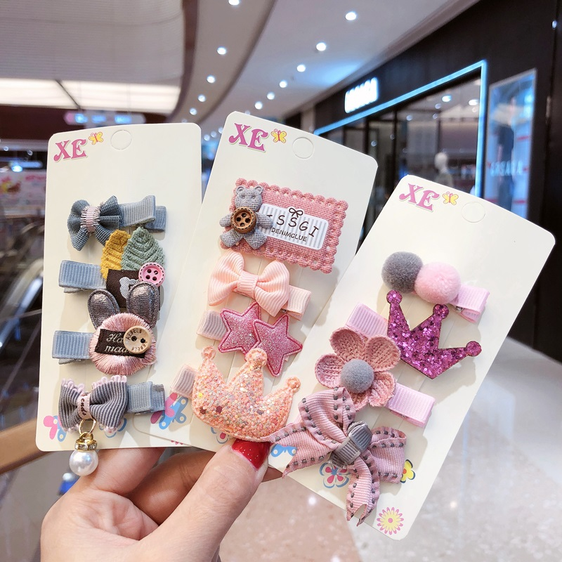 2020 New Cartoon Princess Flower Hairpins Girls Kids Hair Clips Bows Gifts Accessories For Children Hairclip Barrettes Headdress