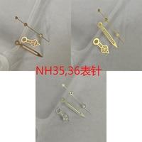 Accesorios para reloj, manecillas Luminosas Azules plateadas/doradas/de oro rosa, aptas para movimiento japonés NH35,NH36 JK434