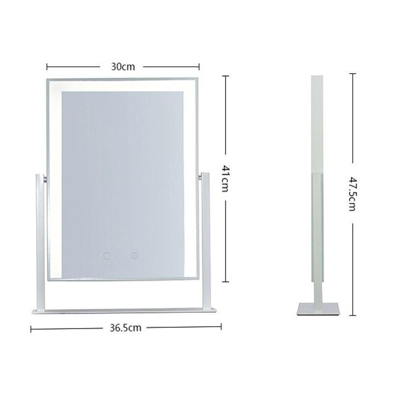 Настенный освещенный светодиодный поворотный зеркало для макияжа с 10X/7X/5X увеличением, Двухстороннее увеличительное/обычное зеркало, штеке... - 5