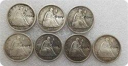 Копировальные монеты 1875,1875S,1875CC,1876, 1876cc, 1877,1878 Liberty Seated Twenty Cent