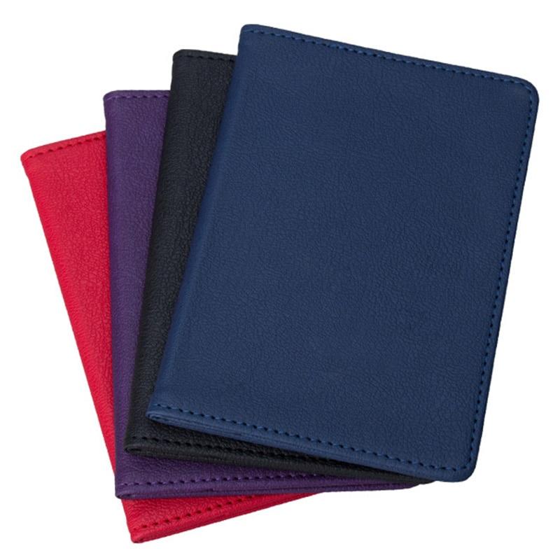 Couleur unie PU porte-passeport carte d'identité porte-carte de crédit 1PC voyage passeport combinaison multi couleurs passeport Case carte portefeuille 2021