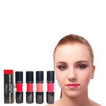 Waterproof gloss and lasting lip gloss. Professional makeup. Nude sexy red color. Lollipop glass lips are plump