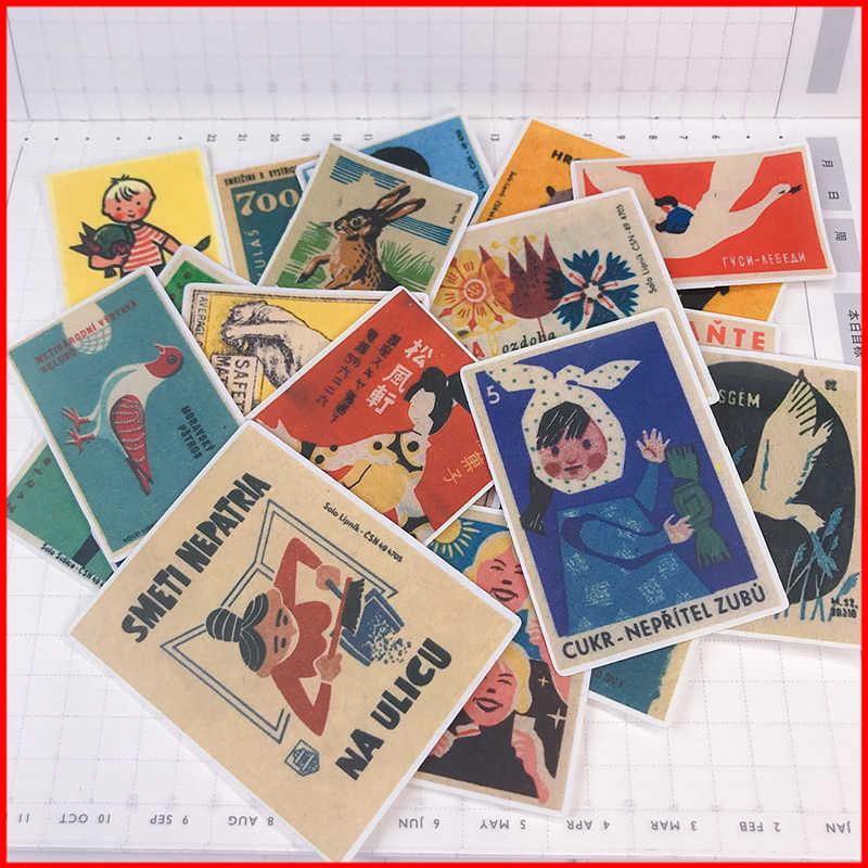 โปสเตอร์โฆษณา vintage ส่วนบุคคลสติกเกอร์สมุดภาพ scrapbooking วัสดุส่วนบุคคลสติกเกอร์ happy planner ขยะ journal