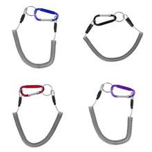Fishing Pole Rod Fishing Lanyards Boating Ropes Coiled Fish Missed Rope Protective Steel