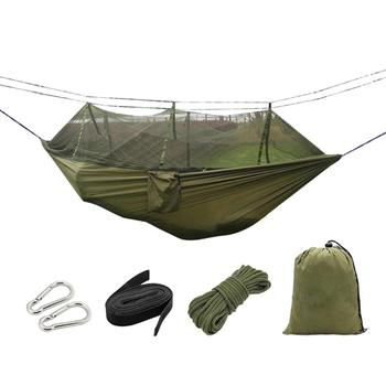 Outdoor Mosquito Hammock Fabric Anti-mosquito Cloth Camping Hammock Hanging Bed for Camping with Mosquito Net (Random Style) camping mosquito net hammock net hammock mosquito