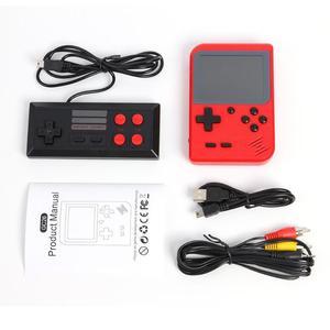 3-дюймовая игровая консоль ручной для ретро FC игровых консолей встроенный 400/500 классические игры портативная игровая консоль красный с геймпадами