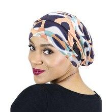 Chapeau Turban musulman pour femmes, casquette de nuit extensible, couche doublée de Satin, couvre-tête chimio, accessoires de tête, Bonnet de sommeil réversible