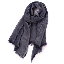 Unisex Style Winter Scarf Cotton And Linen Solider Color Long women's Scarves Shawl Fashion Men Scarf 2019 New Japanese