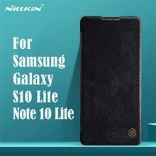لسامسونج غالاكسي Samsung Galaxy S10 Lite لايت حافظة ظهر Nillkin تشين خمر أغلفة جلدية بطاقة محفظة جيب حقيبة لهاتف سامسونج Samsung Note 10 Lite لايت