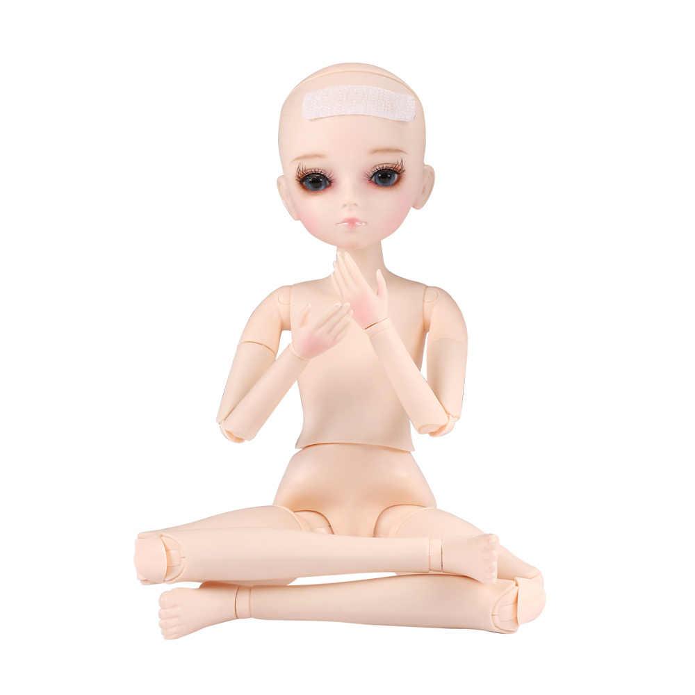 45 Cm Tubuh Telanjang 1/4 BJD Boneka Dapat Berubah Mata 18 Sendi Bola Boneka Tubuh Tanpa Pakaian Aksesoris untuk girls Dress Up Makeup