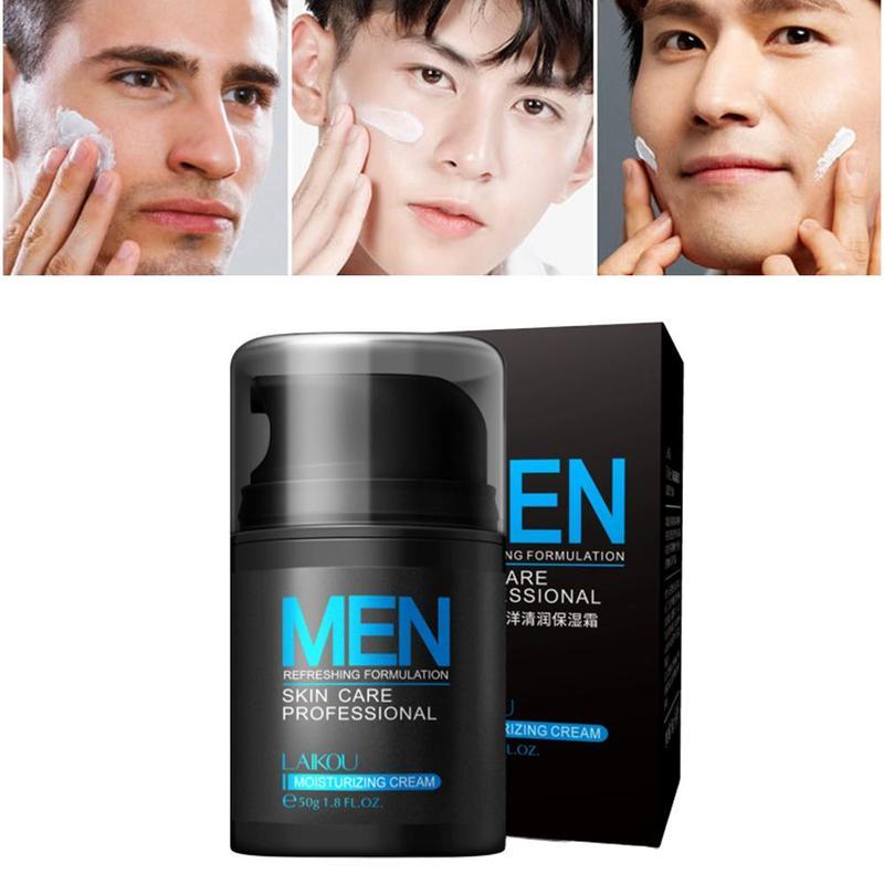 50ml Hyaluronic Acid Face Cream Oil-control Men Lift Firming Shrink Pores Acne Day Cream Moisturizing Whitening Men's Cream
