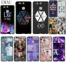 EWAU EXO band k-pop Silicone phone case for Huawei P8 P9 P10 P20 P30 Pro Lite Mini P Smart Z Plus(China)