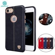 Cho iPhone 7 Nillkin Englon Leather Series Cho IPhone 7 Dành Cho iPhone 7 Plus Чехол Làm Việc Với Giá Đỡ Nam Châm