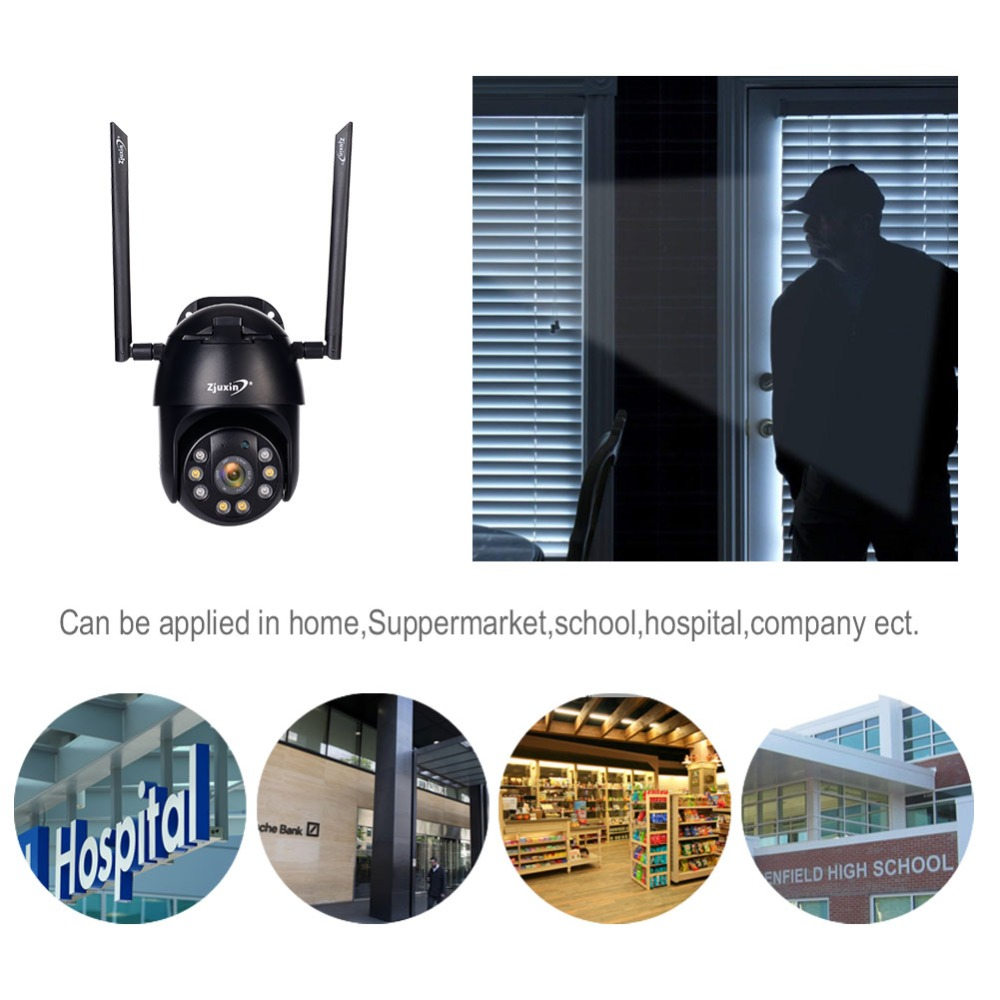 H460f7cd7154f449fbcd7b732f594027cq Zjuxin PTZ IP Camera WiFi HD1080P Wireless Wired PTZ Outdoor CCTV Security Camra Double light human detection AI cloud camera