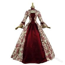 Косплей средневековое платье Ренессанса платье принцессы для взрослых винтажное вечернее кружевное платье длинный сексуальный костюм для вечеринки на Хэллоуин