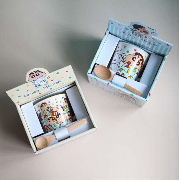 Crayon Shin-chan Xiaobai Yuan Xinzhisuke Ceramic Mug Mug Cartoon Milk Water Cup Children Lovers