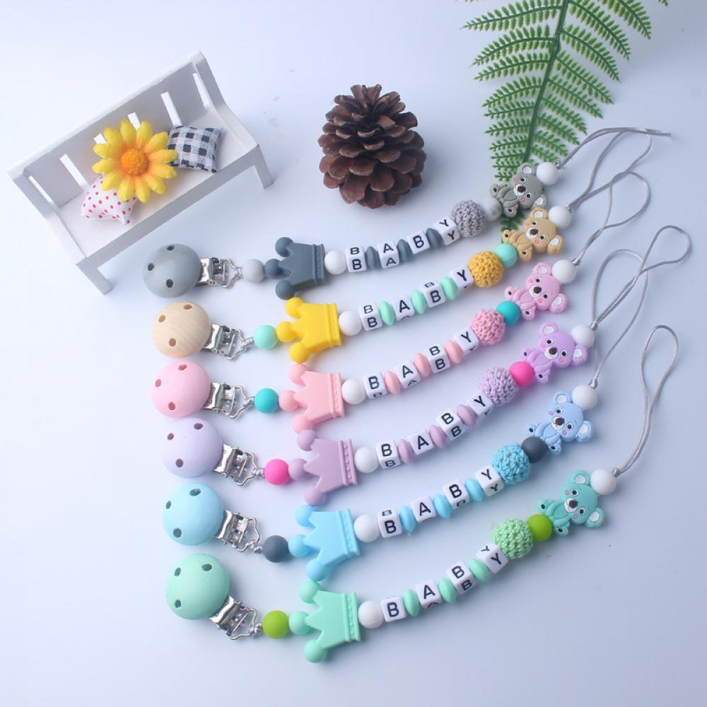 Baby Pacifier Clips For Infant Gifts New Style Baby Products Silicone Pacifier Chain Cartoon Silicone Toy Teeth Molar Chain