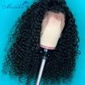 180 Плотность парик на фронте шнурка кудрявый парик 13x4 4x4 Moxika Remy кудрявые парики на фронте человеческих волос предварительно выщипанные пари...