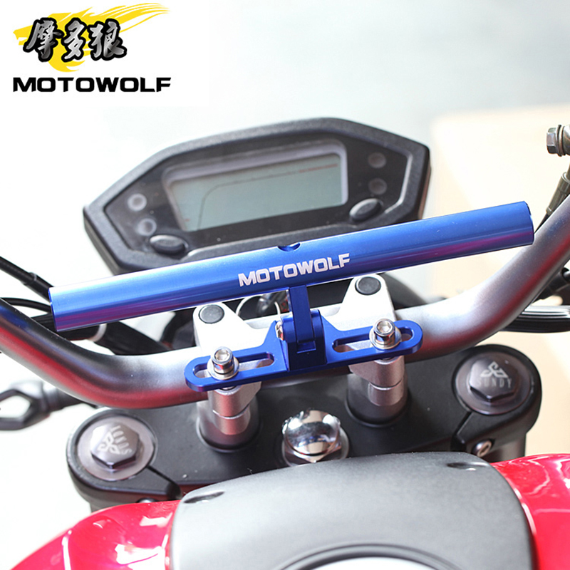 MOTOWOLF Bracket Motorcycle Scooter Bike Phone GPS Spotlight Support Holder Bar For Honda KTM Harley Kawasaki Suzuki Yamaha BMW