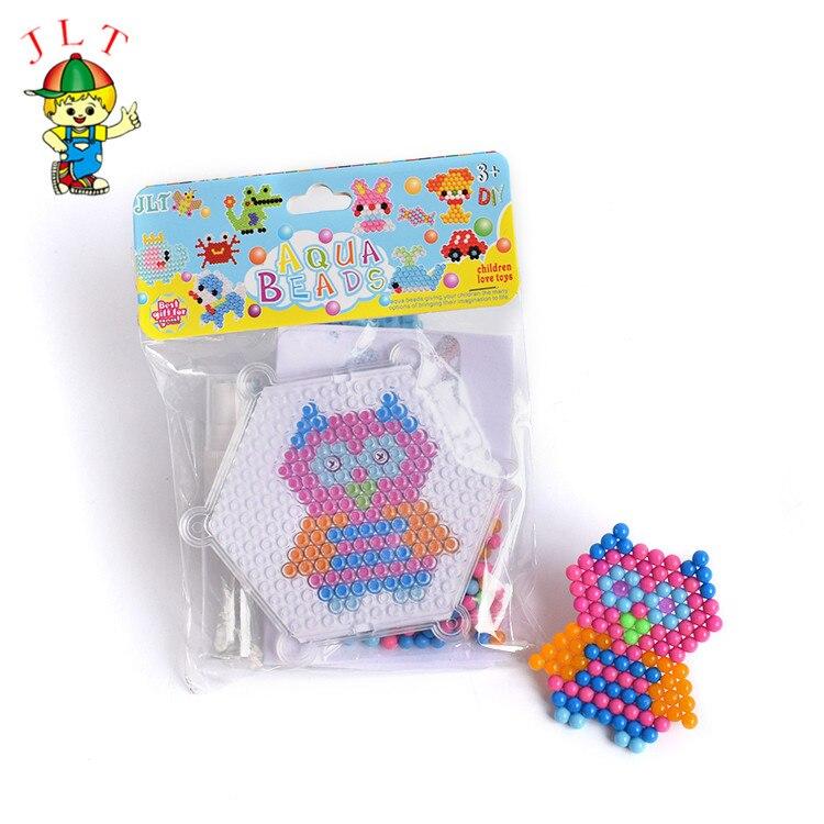 Owl Parrten Magic Puzzle Toys Water Mist Bead Set DIY Craft Animal Handmade Sticky Beads Educational Toys For Kids