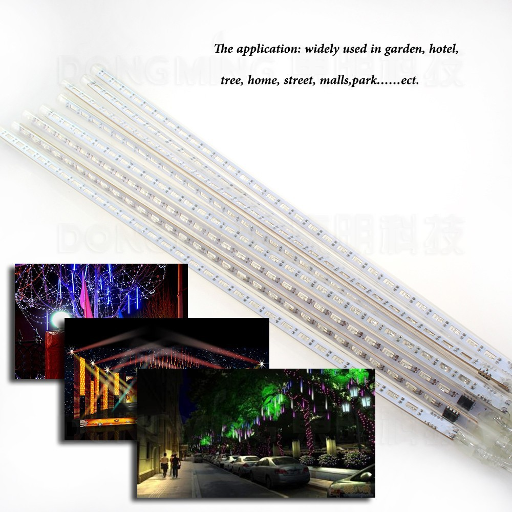 100set 8pcs/set 20cm LED Hollow Meteor Shower Lights Waterproof Decorative Lights Holiday Led Christmas Tree Light
