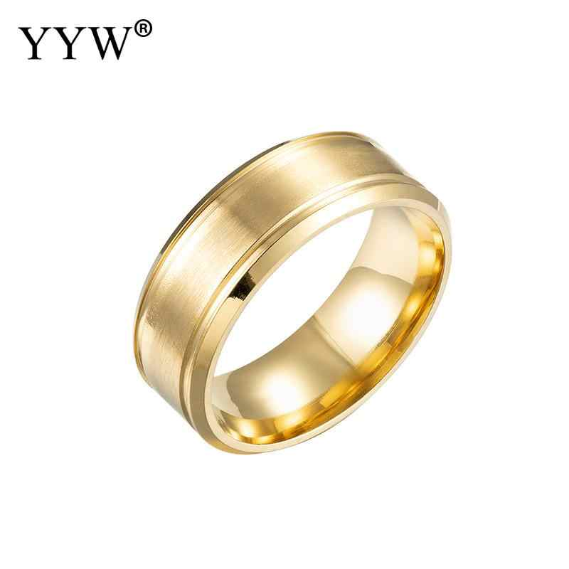 Rvs Finger Ring 316l 8mm Rvs Ring Mannen Hoge Kwaliteit Mode-sieraden Groothandel Party Gift Dropshopping