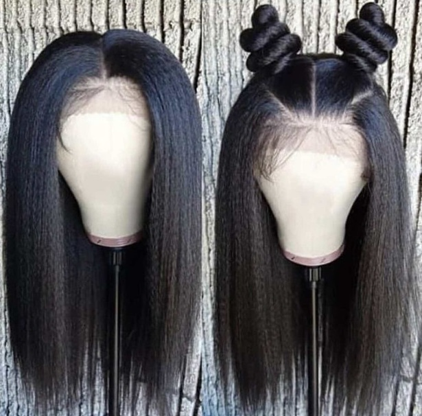 Beaudiva 13*4 Lace front Human Hair Wigs With Baby hair Kinky Straight Natural Color Brazilian
