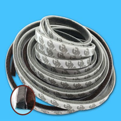 1 Meters Self-adhesive Sealing Wind-proof Brush Strip For Home Door Window Sound Insulation Strip Gasket Sound Foam