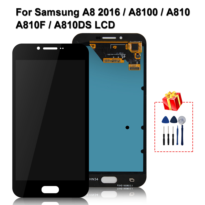 Original For Samsung Galaxy A810 A8 2016 LCD Touch Screen Digitizer Display Replacement Parts For A810F A810DS LCD Display image