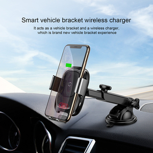 Image 2 - Baseus Car Phone Holder Sensor For iPhone For Samsung Automatic Sucker Car Wireless Charger Air Vent Mount Phone Holder Stand