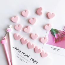 strong Import List strong Różowa miłość serce karteczki do planowania klip plastikowe zakładki Kawaii klipy śliczne spoiwo sklep papierniczy biuro szkolne tanie tanio Giraffita CN (pochodzenie) YFXZCGB23967 Z tworzywa sztucznego paper clip