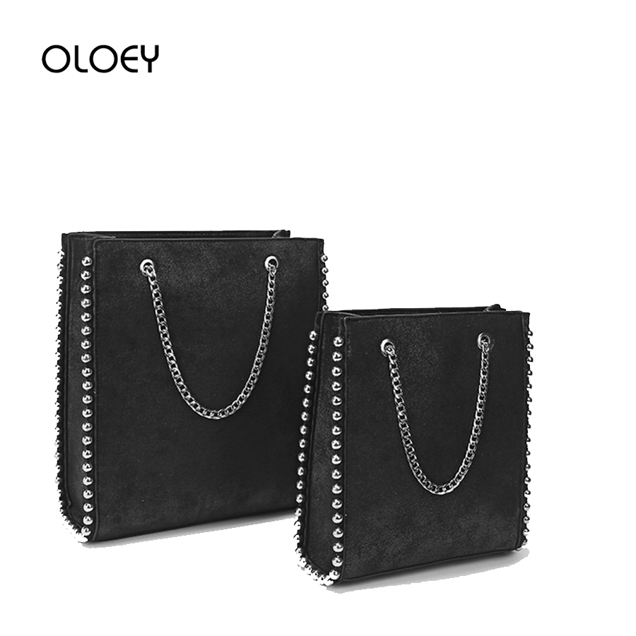 Retro Large Capacity Women Tote Bag  Fashion Chain Rivet Bead Shoulder Bags Lady Commuting Pu Leather Purses And Handbags Bolsas