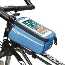 Аксессуары для велосипеда велосипедная Передняя труба сумка велосипедная Рама Водонепроницаемая передняя сумка сотовый мобильный чехол для телефона 6 дюймов держатель для телефона