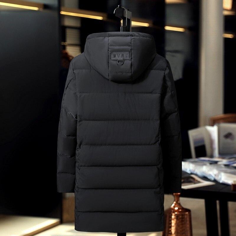 Распродажа 2019, ветронепроницаемая Хлопковая мужская длинная куртка, большой размер, зимнее пальто, толстая свободная парка, новая Толстая теплая ветровка - 3