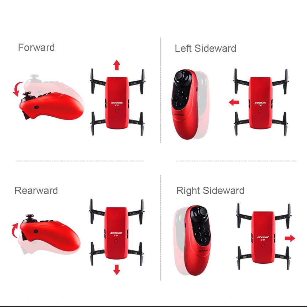 Gool RC T47 6-Axis Gyro Wifi FPV 720P HD Kamera Quadcopter Lipat G-Sensor RC Selfie Drone RTF Satu Tambahan Baterai