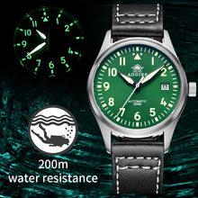 Men's Watch Sapphire Crystal Nh35 Pilot Automatic Mechanical Waterproof Stainless-Steel