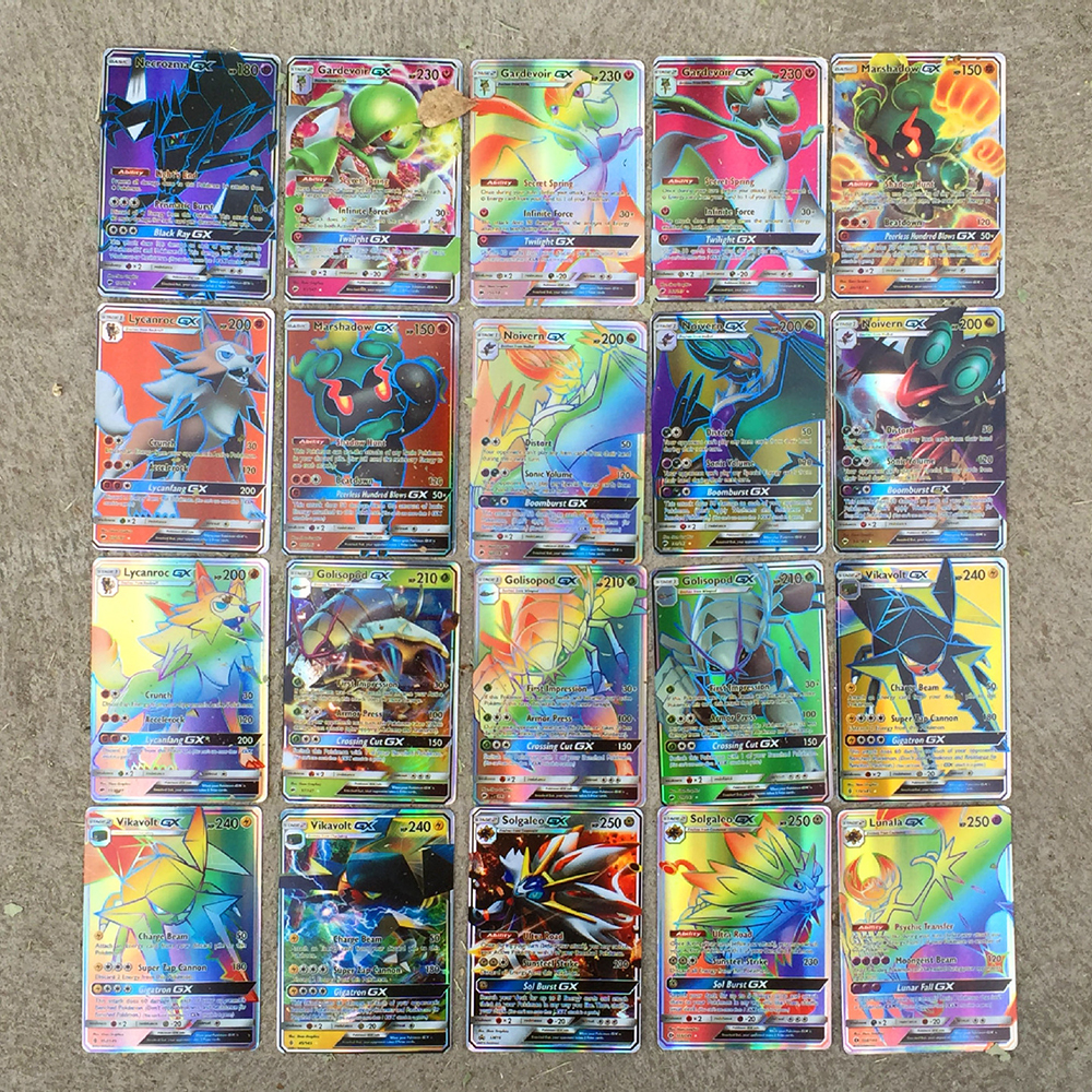TAKARA TOMY Pokemon GX Cards EX Cards MEGA Cards M Cards 3D Version Classic Plaid Flash Pokemon Card Collectible Gift Kids Toy