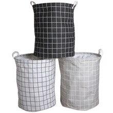 Familysky Laundry Basket Foldable Bag Clothes Toy Organizer Laundry Bag Picnic Large Baskets Bags Print Organizer Hamper Bucket