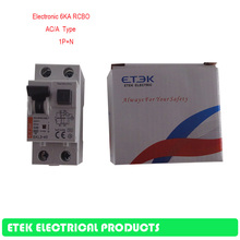 RCBO EKL3-40 1P+N C type 230V~ 50HZ/60HZ RCCB with Overcurrent Protection 6A  10A 16A 20A 25A 32A 40A